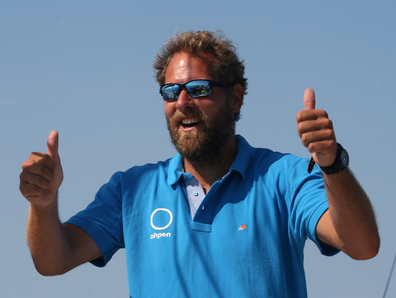 Mark Slats at the height of fitness having just rowed the Atlantic – photo Julio Graham