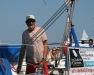 Jean-Luc Van Den Heede looking relaxed at the start of the Golden Globe Race in Les Sables d'Olonne – photo Julio Graham