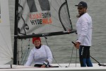 Olympic sailor Luke Patience, and Mary Henderson take overnight lead – photo Sue Pelling