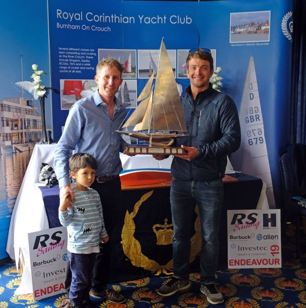 Ben Saxton and Toby Lewis collect the Endeavour Trophy for the fifth time in a row – photo Roger Mant