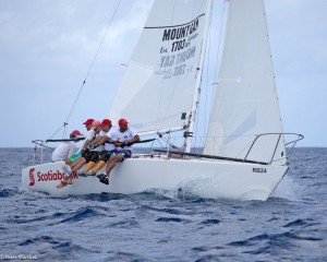 Cyril Lecrenay's team on Bunga Bunga sailed a good series to finish second overall