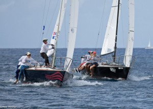 J/24 action at the windward mark