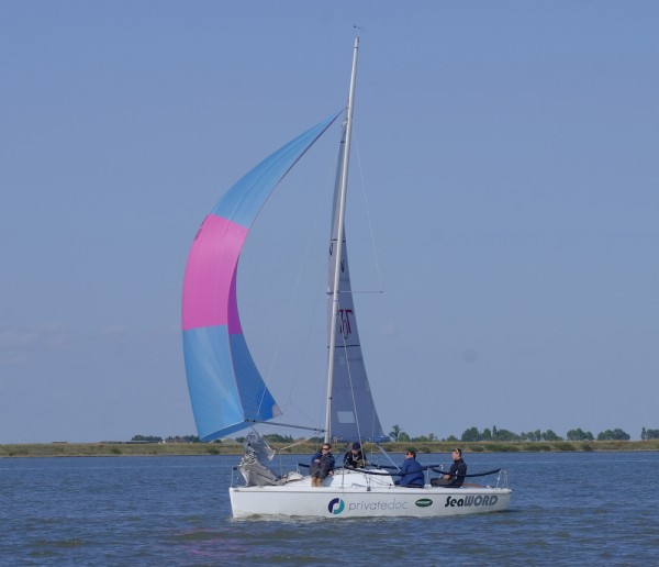 Team Seaword on their way to winning the 707 national championship – photo Roger Mant