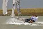 Ben Saxton and Toby Lewis enjoy spectacular racing in today's breezy conditions – photo Roger Mant