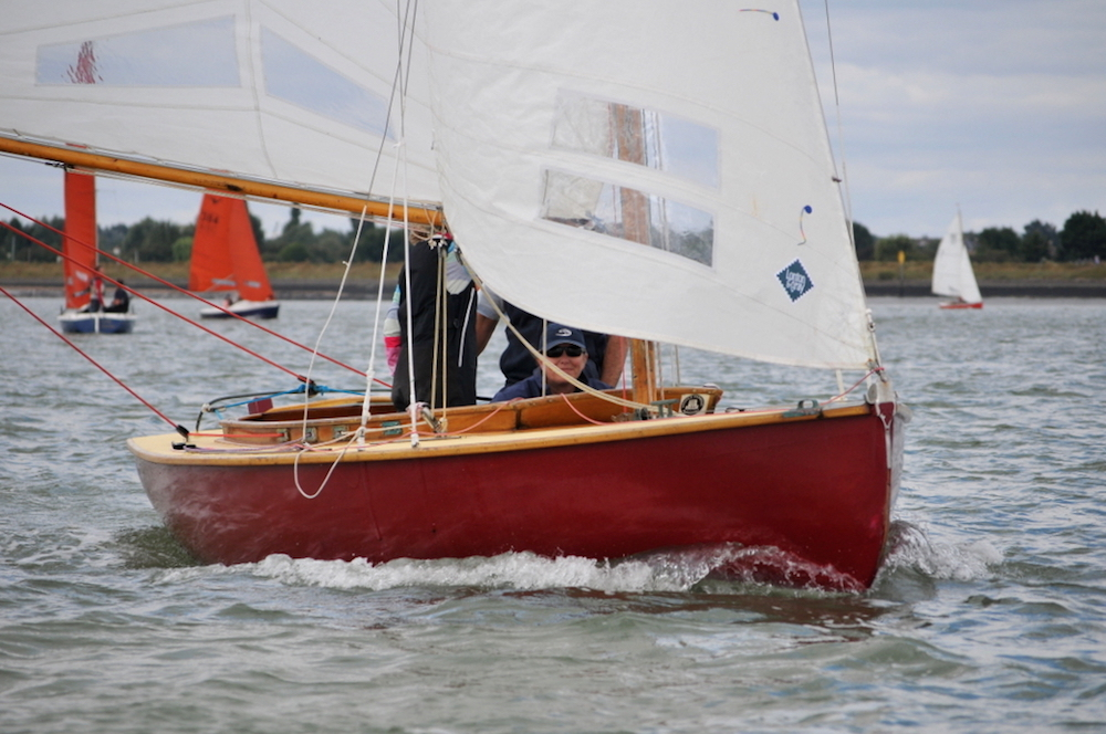 Simon Hollington and team in Beryl in the Royal Burnham One-Design class won today's race by over two minutes – photo Alan Hanna