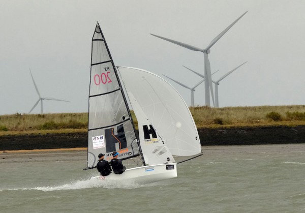 Christian Birrell and Sam Brearey test out the conditions ready for the start tomorrow – photo Roger Mant