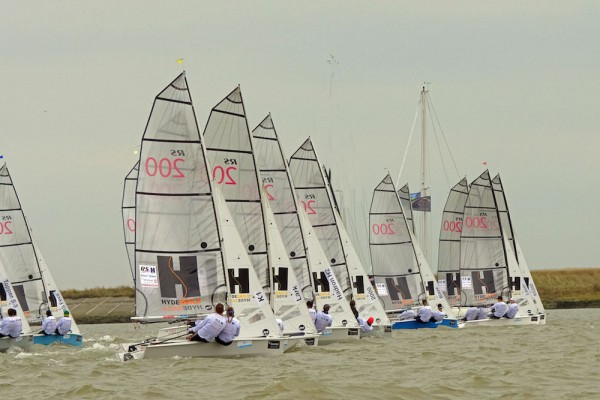 Startline action on a flooding tide – photo Roger Mant