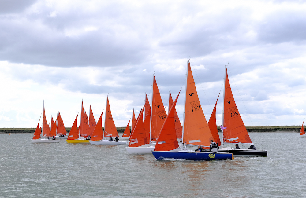 The Squibs turned out in force for the five-race series – photo Roger Mant
