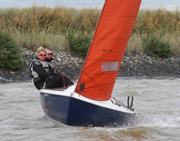 Star performance from Squib sailors Malcolm and Jackie Hutchings on Lady Penelope – photo Roger Mant