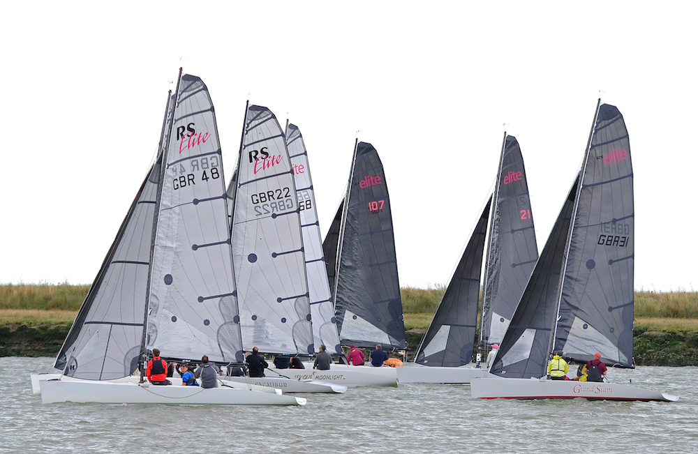 Startline action for the RS Elite class – photo Roger Mant