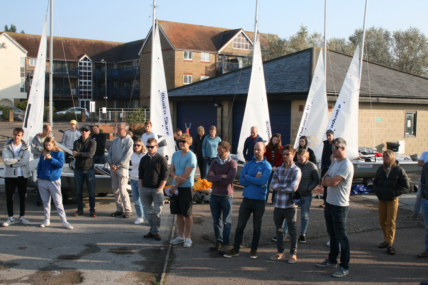 Pre race briefing in glorious  Autumnal sunshine – photo  Sue Pelling