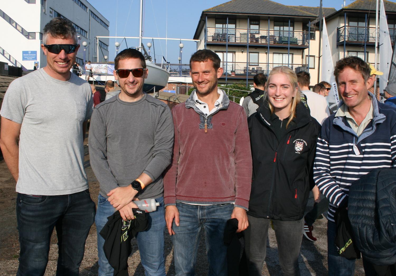 (from left) Stuart Bithell, Tom Pygall, Matt Burge, Jessica Hammett, Toby Lewis – photo Sue Pelling