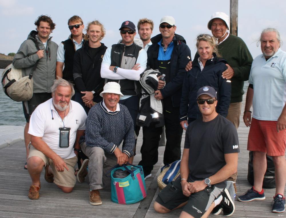 Richard Matthews and the Oystercatcher XXXV team – photo Sue Pelling