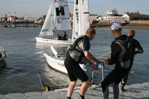 Competitors prepare for the start of tomorrow's opening races in the 2014 Endeavour Championship – Sue Pelling