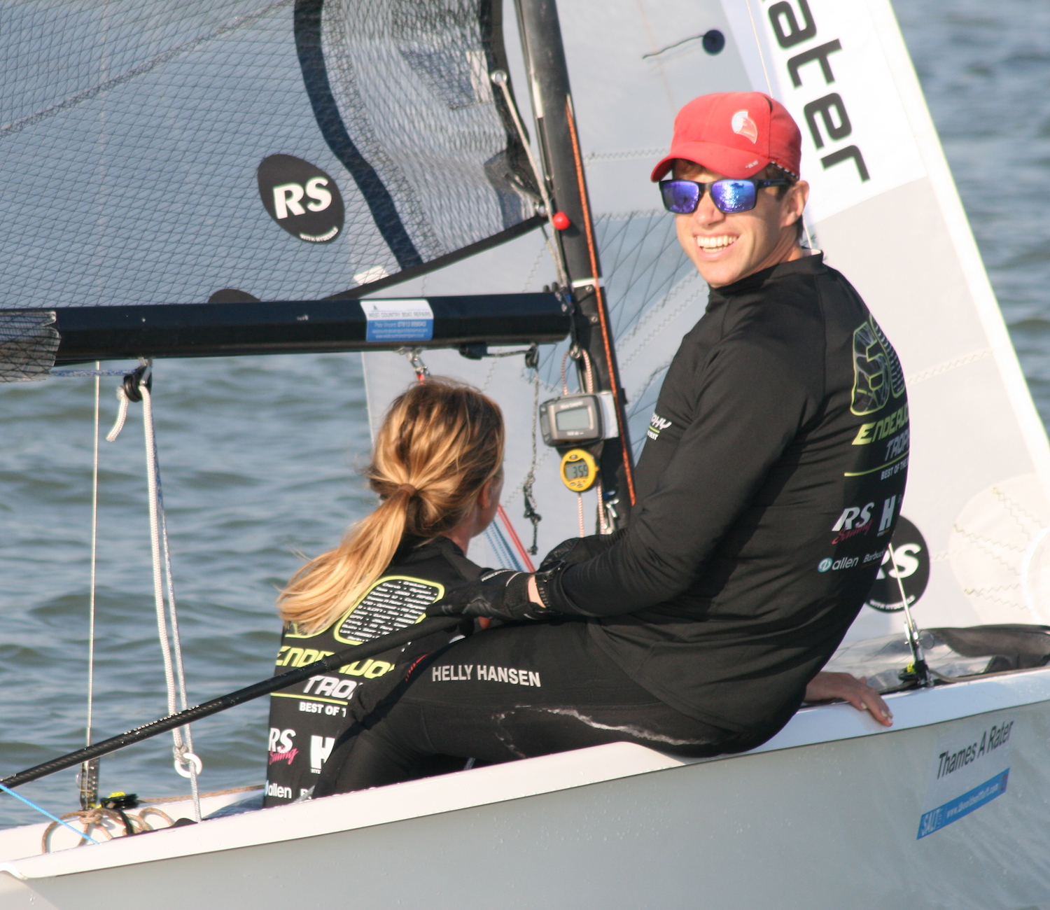 Overnight leaders after four races, Ben Palmer and Amy Seabright – photo Sue Pelling