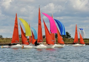The Squib class always produces exceptionally close racing – photo www.eastcoast.photos