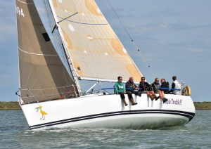 Duncan Hayley and team on Double Trouble, winner of IRC Class 2 – photo www.eastcoast.photos