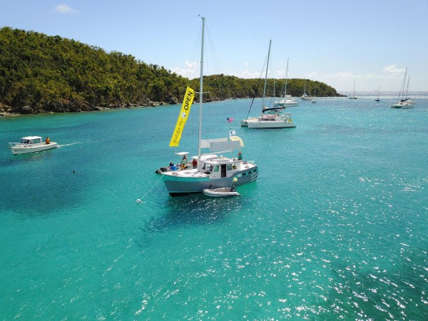 St Thomas offers an abundance of beautiful anchorages for cruising – photo VI Professional charter Association