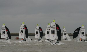 A breezy downwind leg – photo Sue Pelling