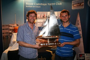 The new Endeavour Champions – Matt Burge (left) and Toby Lewis – celebrate their win – photo Sue Pelling